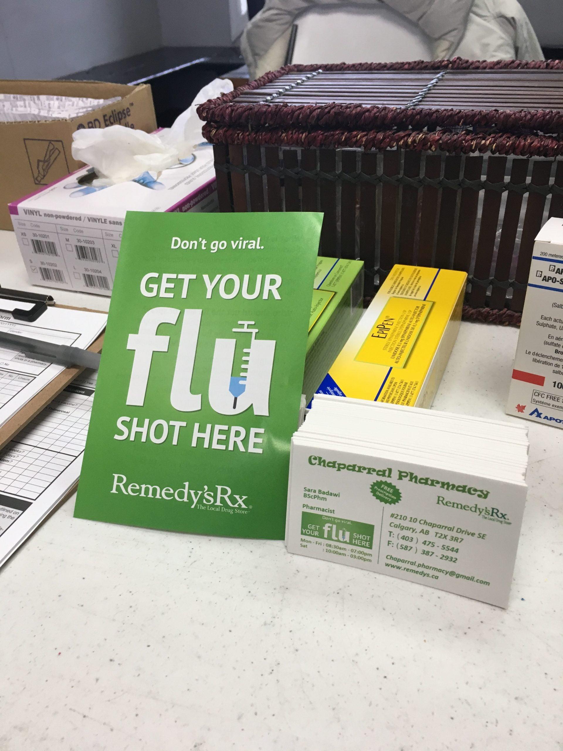 Chaparral Pharmacy Flu Clinic at Lake Chaparral, Calgary AB